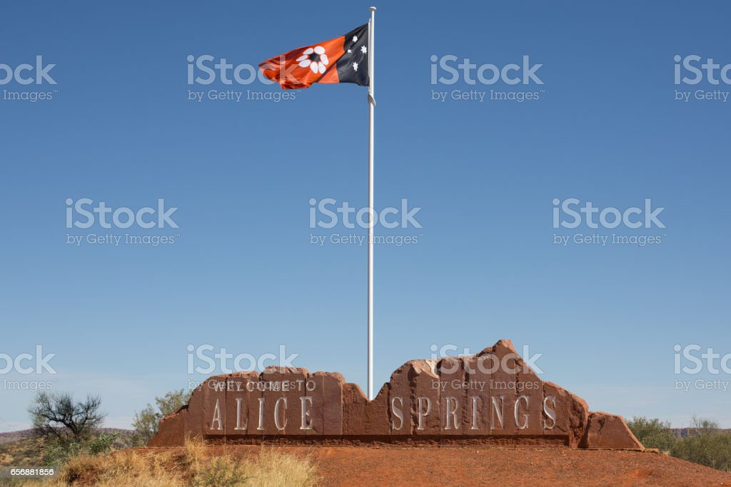 Welcome to Alice Springs stock photo