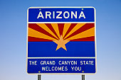 welcome to Arizona sign state line