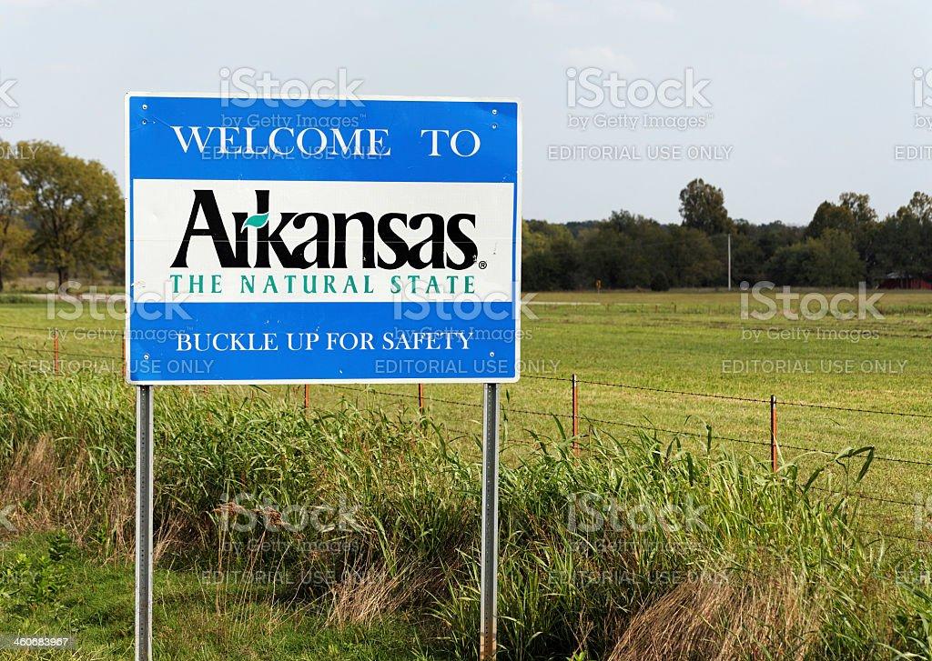 Welcome to Arkansas stock photo