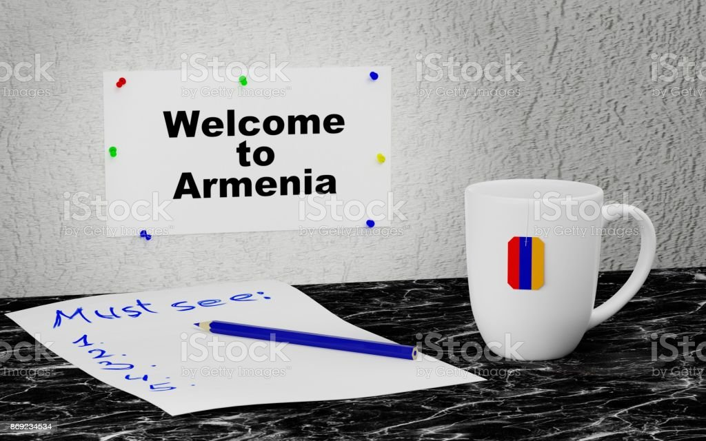Welcome to Armenia stock photo