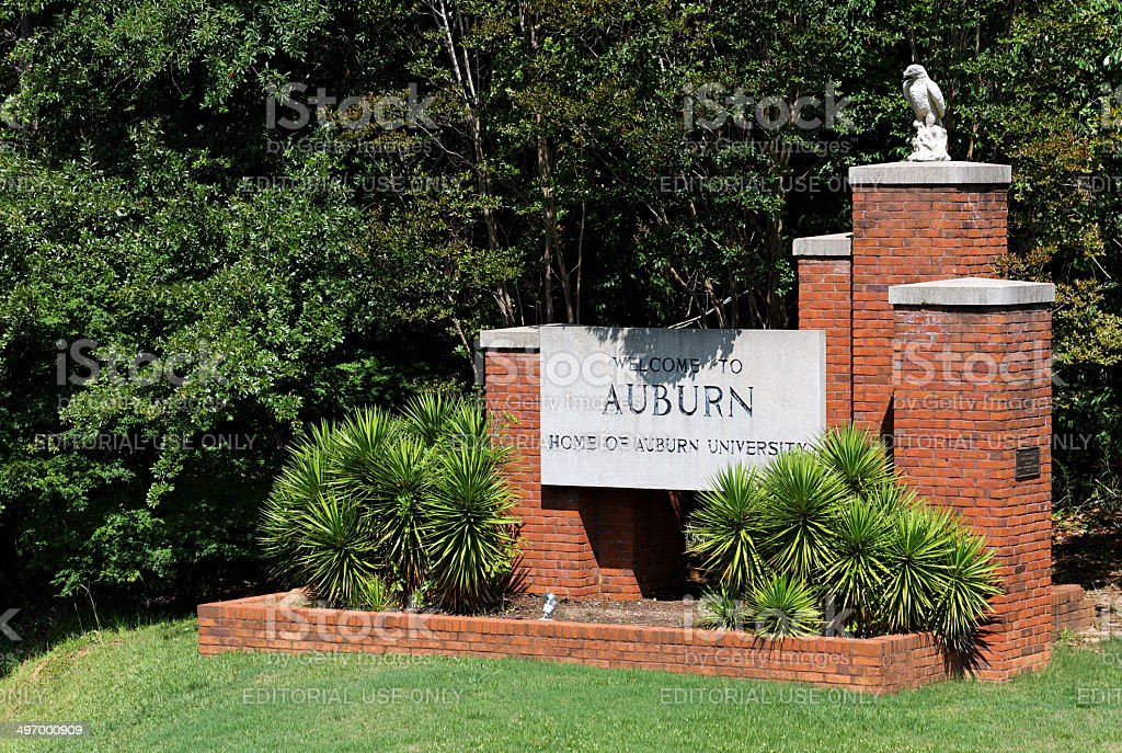 Welcome to Auburn stock photo