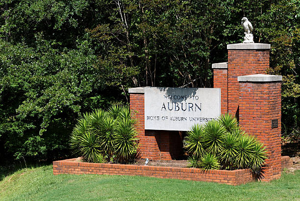 Welcome to Auburn stock photo