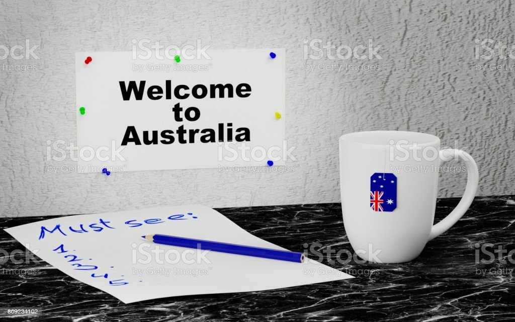 Welcome to Australia stock photo