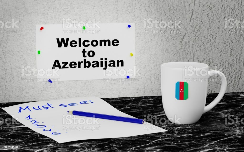 Welcome to Azerbaijan stock photo