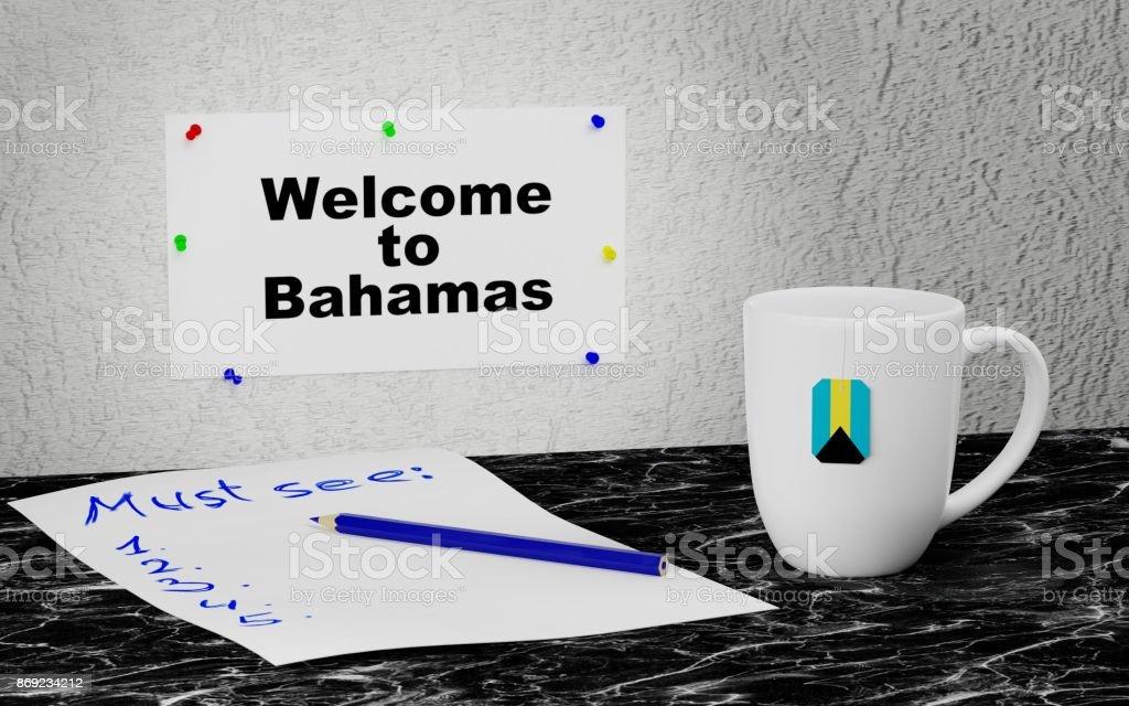 Welcome to Bahamas stock photo