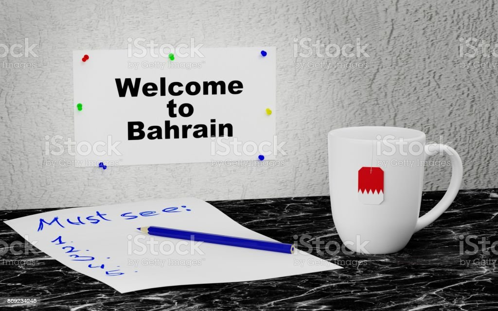 Welcome to Bahrain stock photo