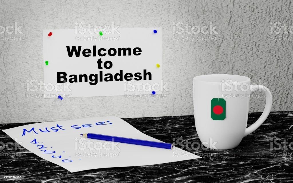 Welcome to Bangladesh stock photo