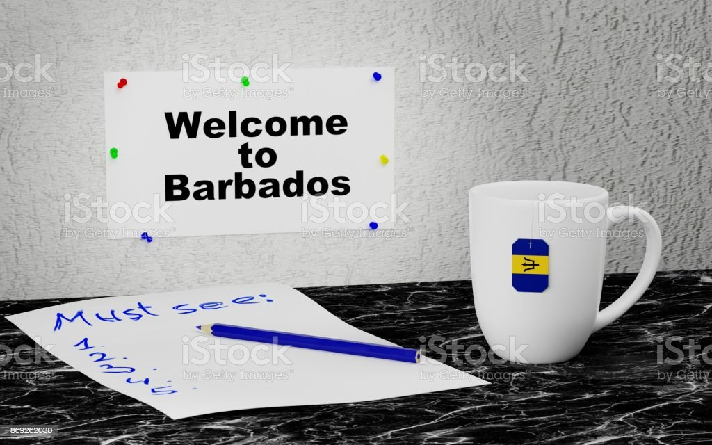 Welcome to Barbados stock photo