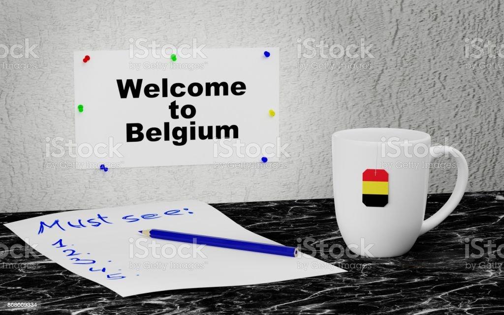 Welcome to Belgium stock photo
