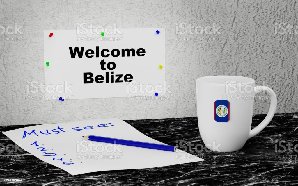 Welcome to Belize stock photo