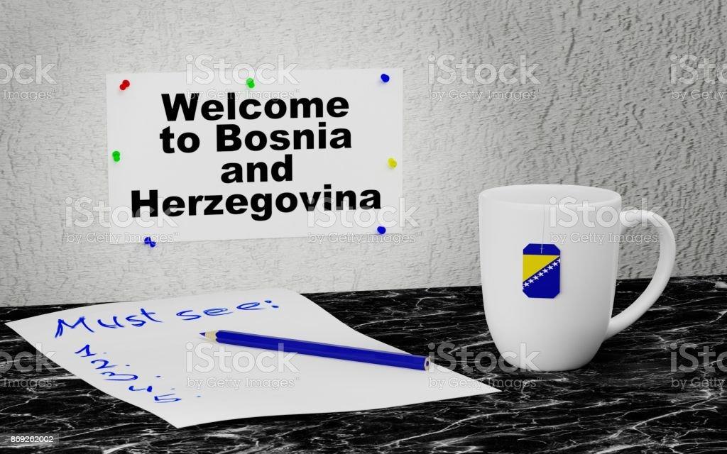 Welcome to Bosnia and Herzegovina stock photo