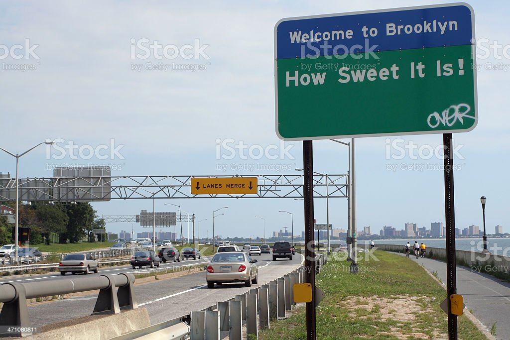 Welcome to Brooklyn royalty-free stock photo