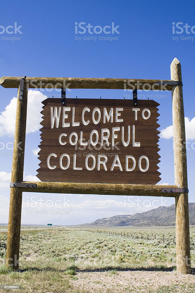 Welcome to Colorado sign royalty-free stock photo