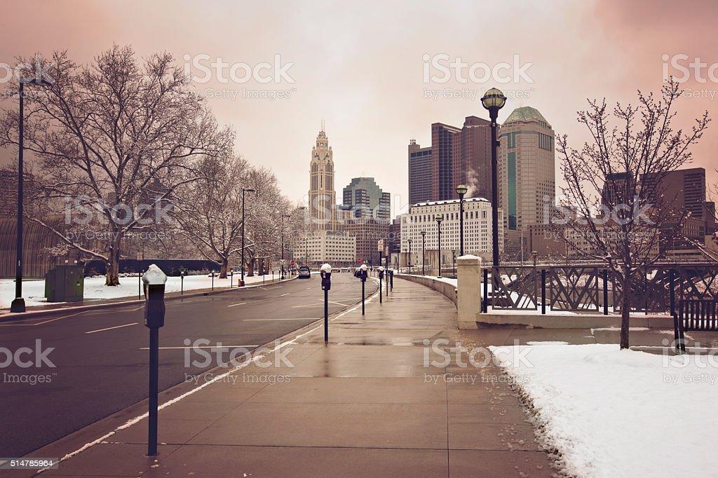 Welcome to Columbus, Ohio stock photo
