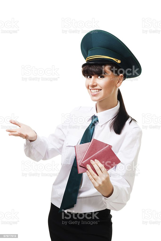 Welcome to country, passport control passed royalty-free stock photo