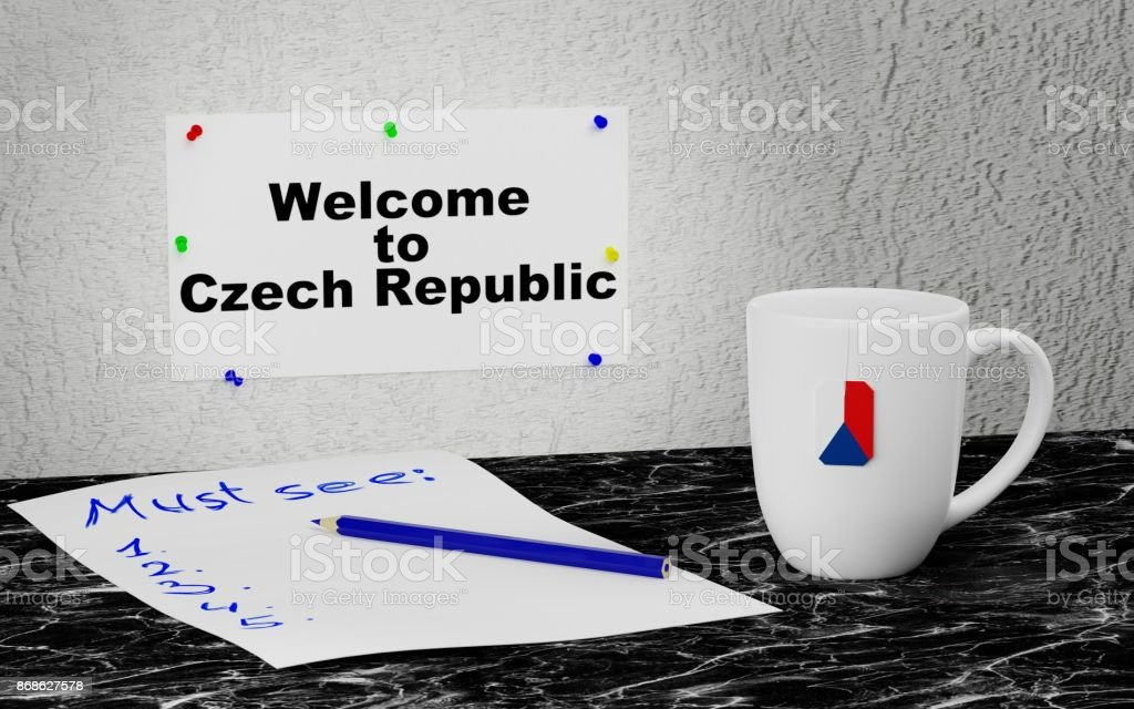 Welcome to Czech Republic stock photo