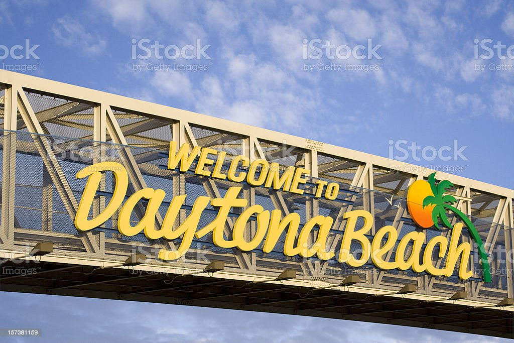 Welcome to Daytona Beach stock photo