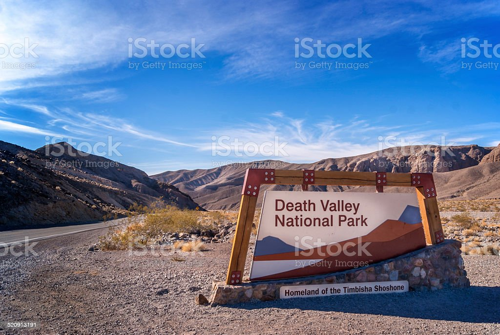 Welcome to Death Valley stock photo