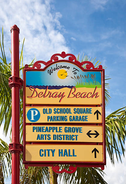 Welcome to Delray Beach stock photo