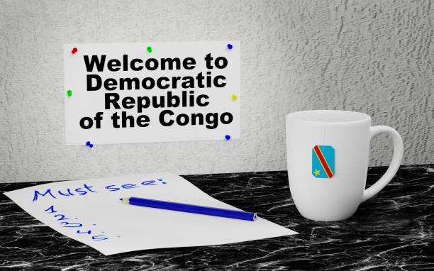 Welcome to Democratic Republic of the Congo stock photo