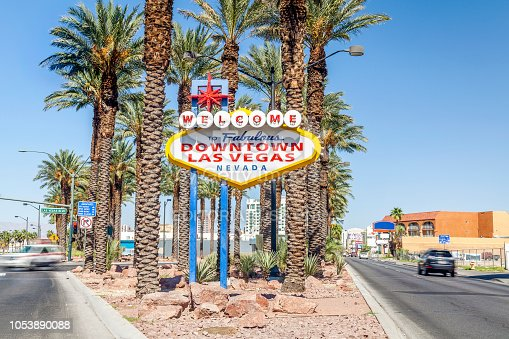 Welcome to Fabulous Downtown Las Vegas Nevada sign