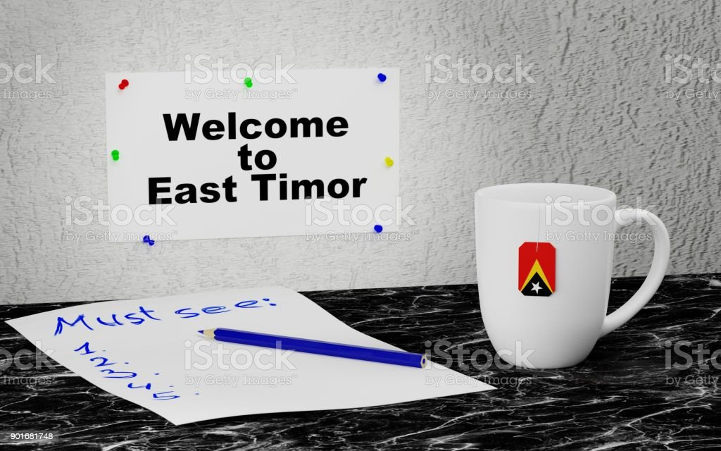 Welcome to East Timor stock photo
