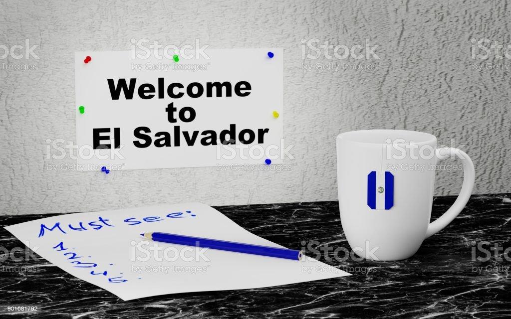Welcome to El Salvador stock photo