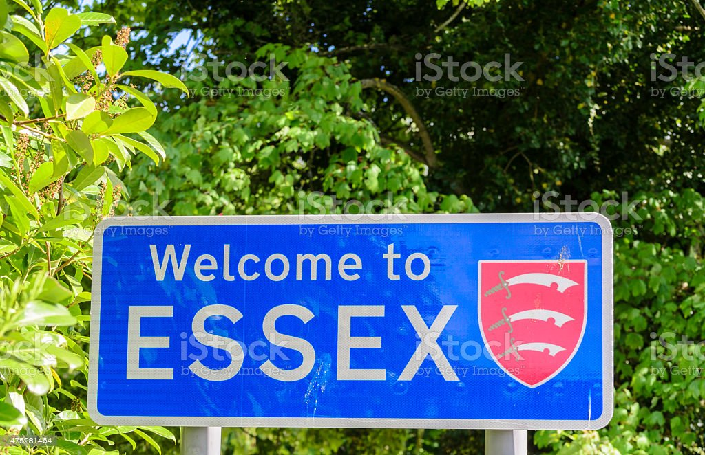 Welcome to Essex. stock photo
