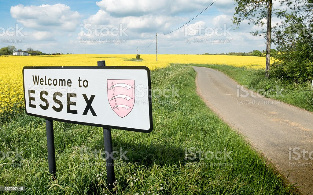 Welcome to Essex sign, UK stock photo