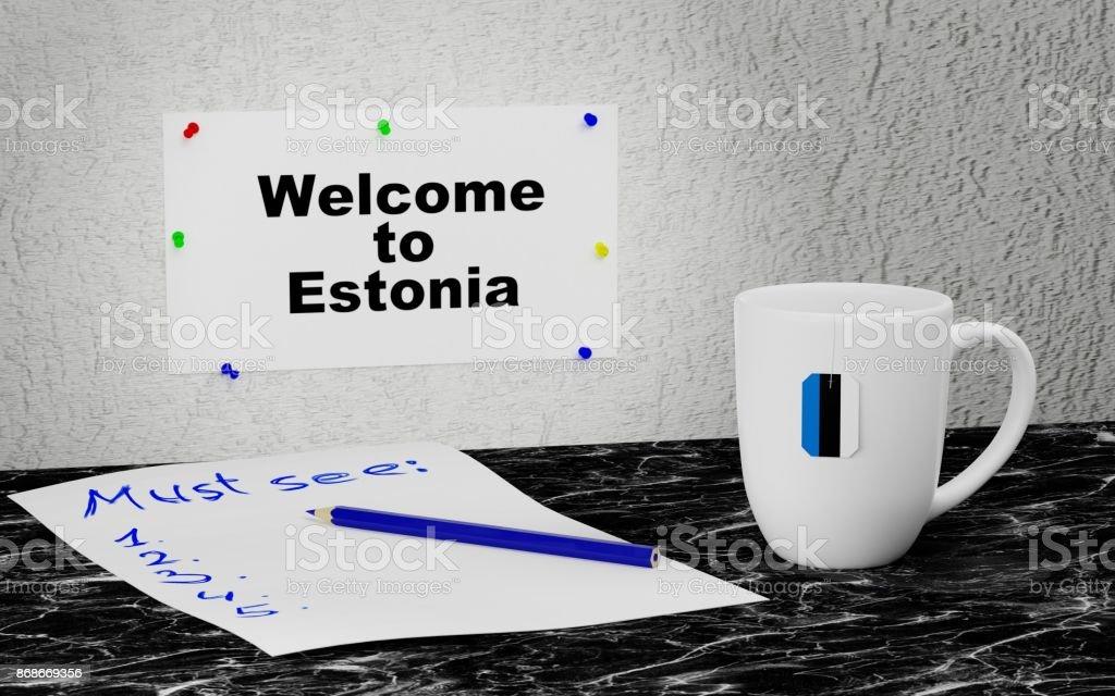 Welcome to Estonia stock photo