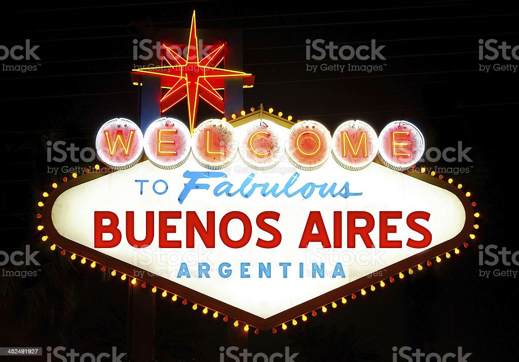 Welcome to Fabulous Buenos Aires royalty-free stock photo