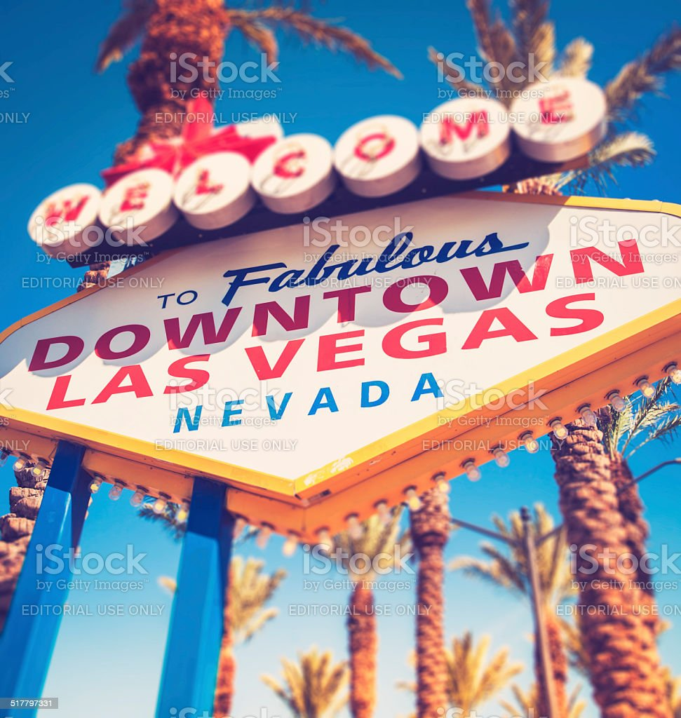 Welcome To Fabulous Downtown Las Vegas Sign stock photo