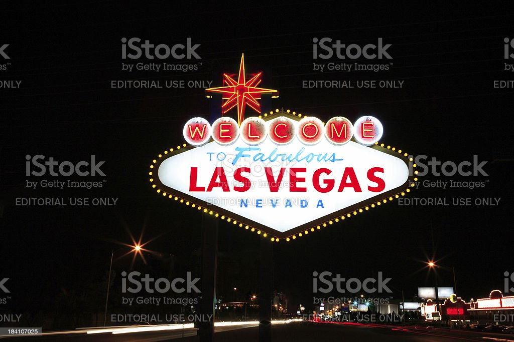Welcome to Fabulous Las Vegas royalty-free stock photo
