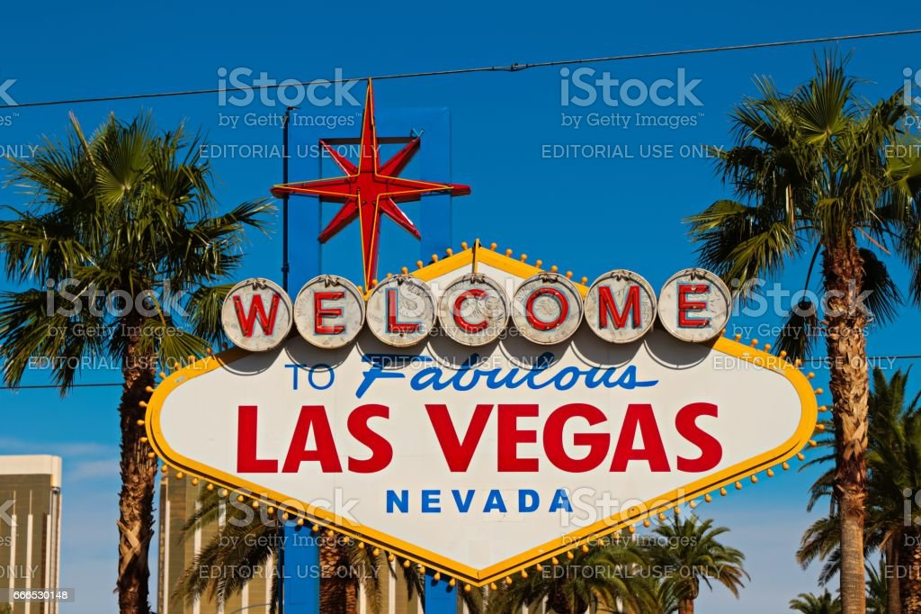 Welcome to Fabulous Las Vegas sign stock photo