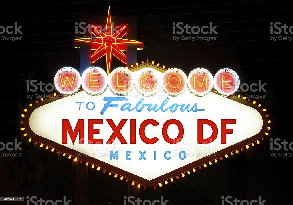 Welcome to Fabulous Mexico royalty-free stock photo
