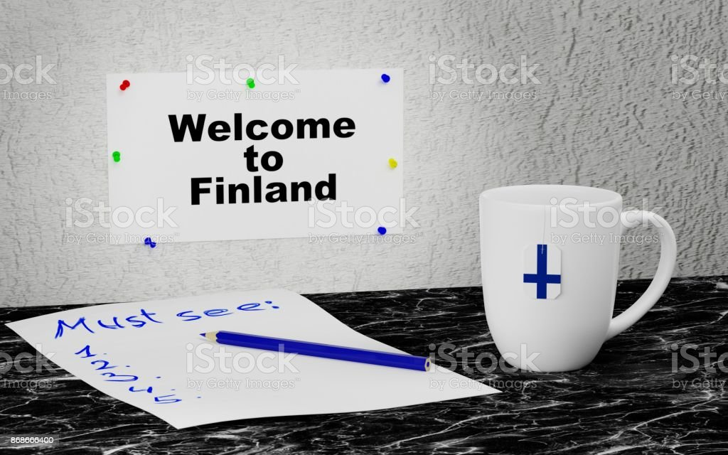 Welcome to Finland stock photo