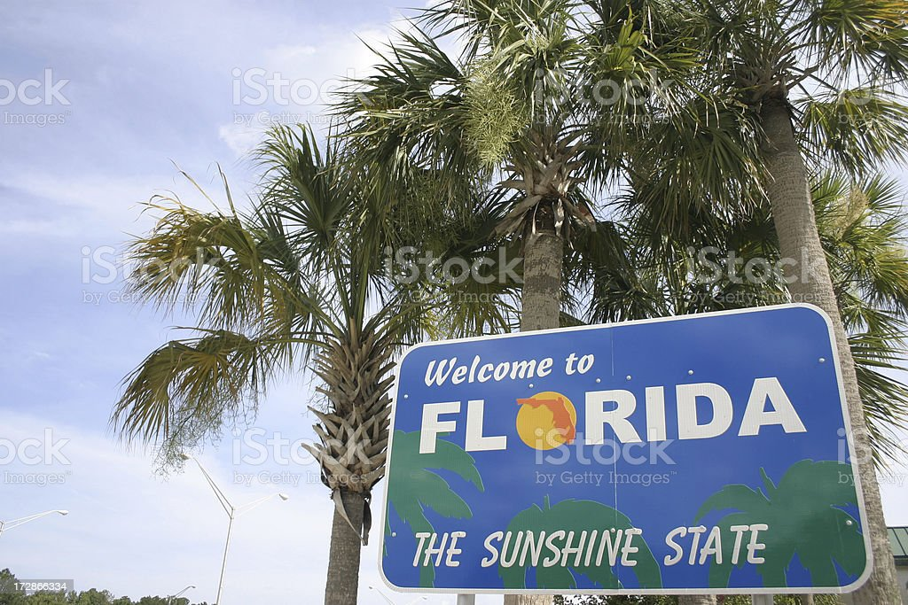 Welcome to Florida stock photo