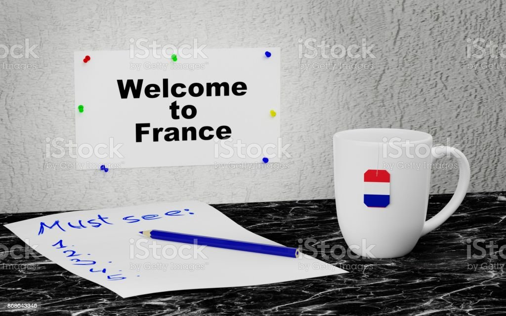 Welcome to France stock photo