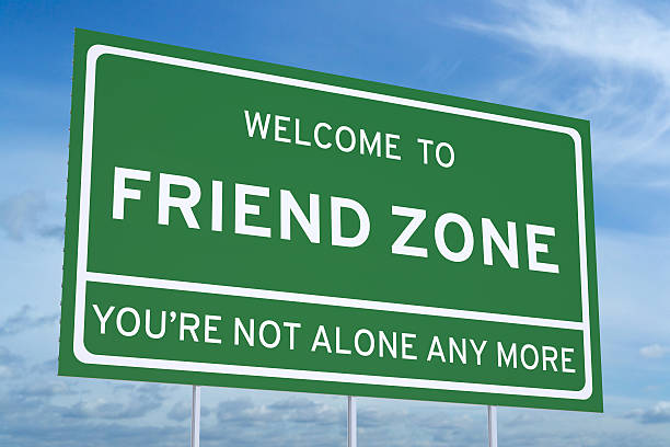 Welcome to Friend Zone on road billboard stock photo