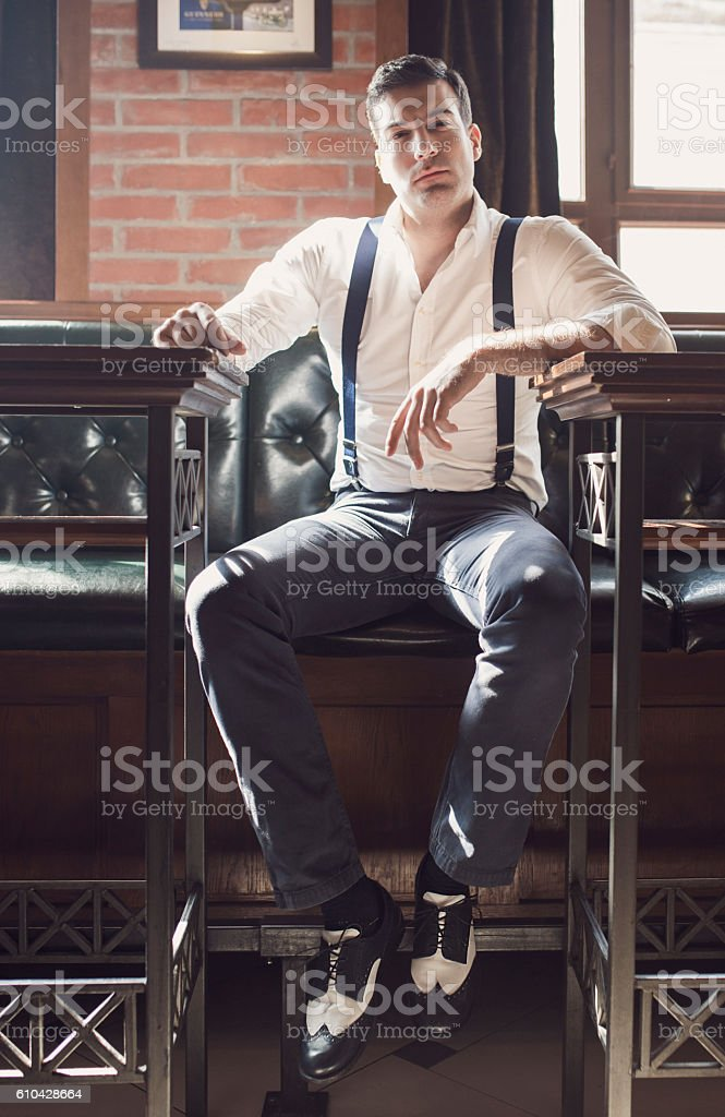 Welcome to genlemen's club stock photo