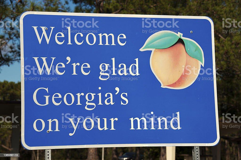 Welcome to Georgia royalty-free stock photo
