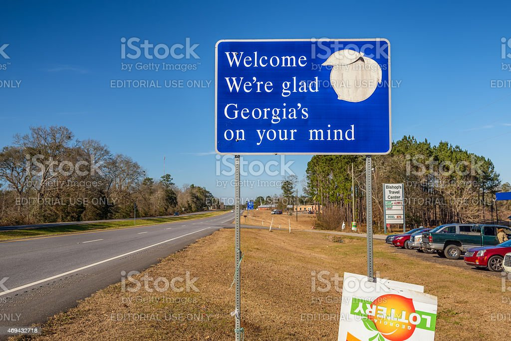 Welcome to Georgia Sign stock photo