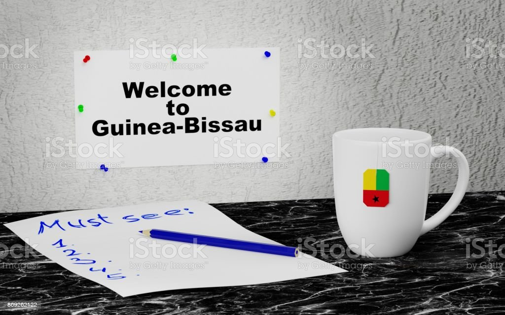 Welcome to Guinea-Bissau stock photo