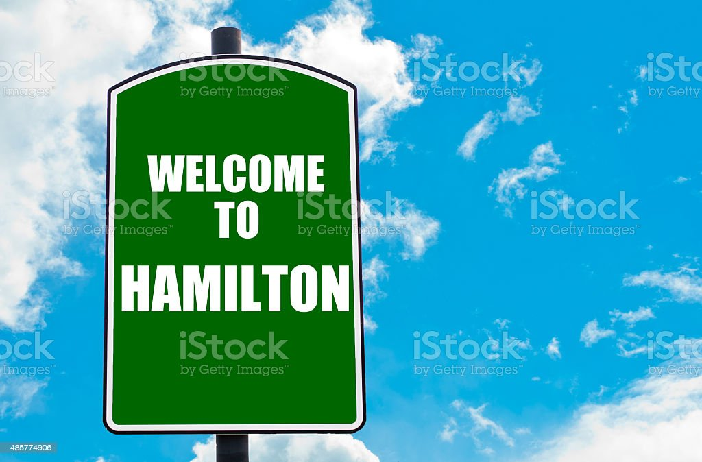Welcome to HAMILTON stock photo