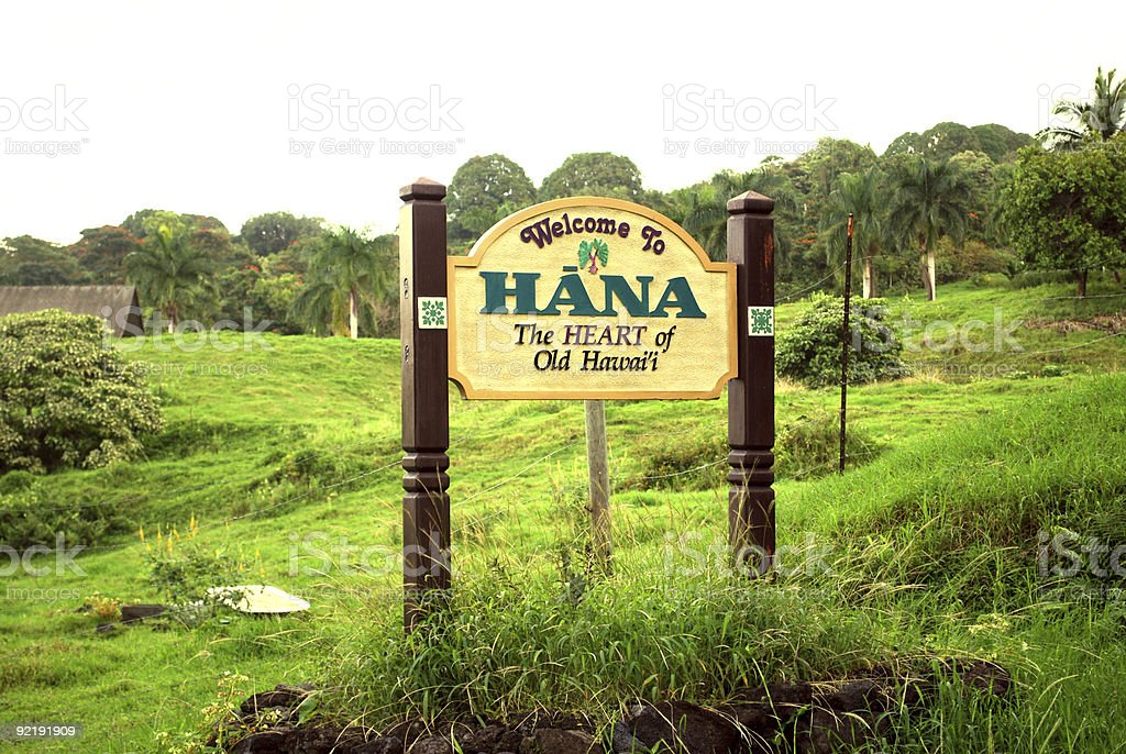 Welcome to Hana royalty-free stock photo