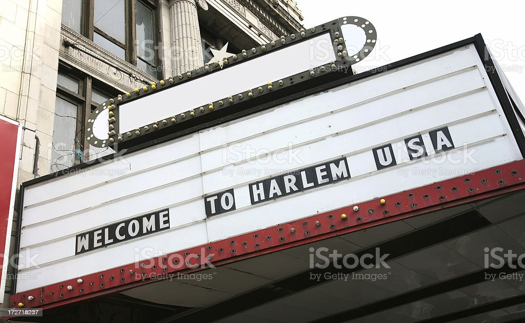 Welcome To Harlem Sign royalty-free stock photo