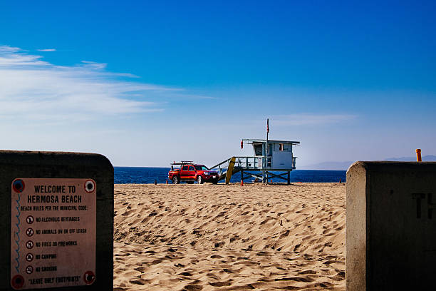 Welcome to Hermosa Beach stock photo