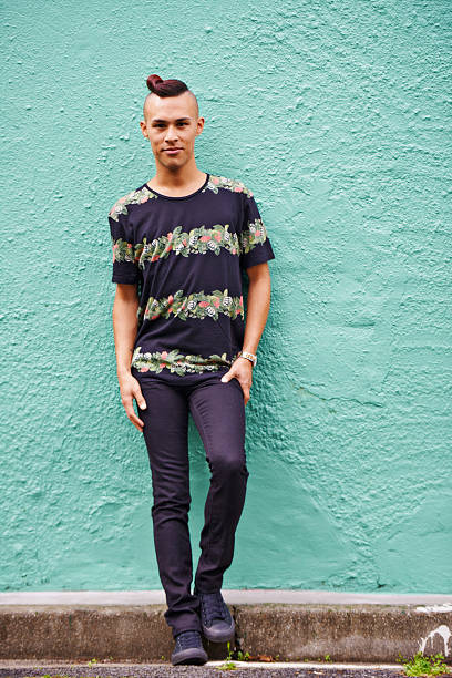 Welcome to hipster street Portrait of a trendy young man standing outside skinny jeans stock pictures, royalty-free photos & images