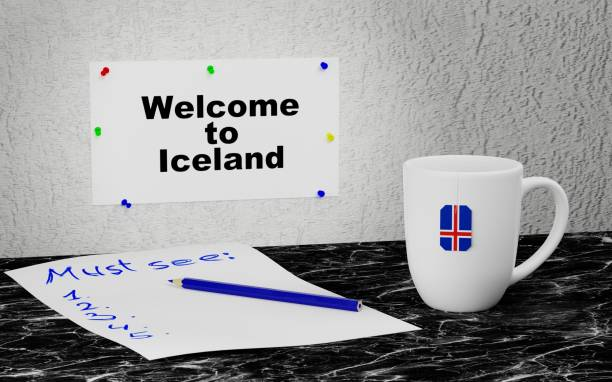 Welcome to Iceland stock photo