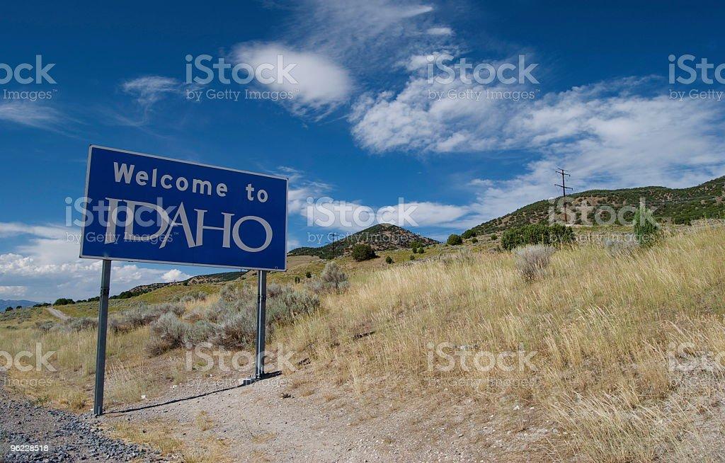 Welcome to Idaho royalty-free stock photo